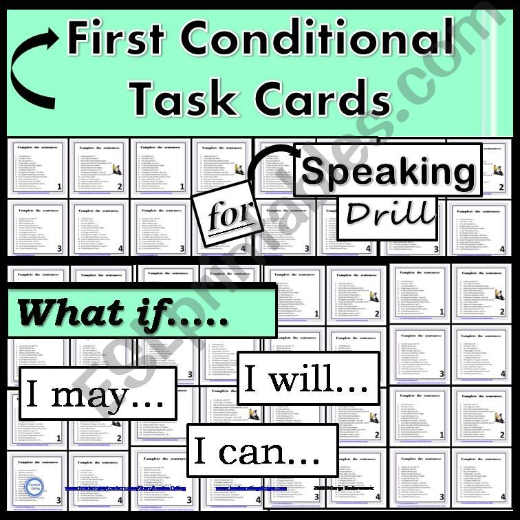First Conditional- Task Cards - Speaking Drill