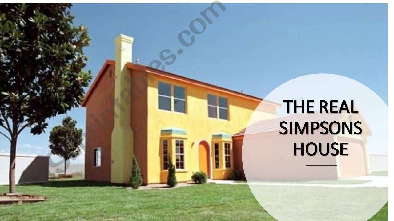 The Simpons´ House powerpoint