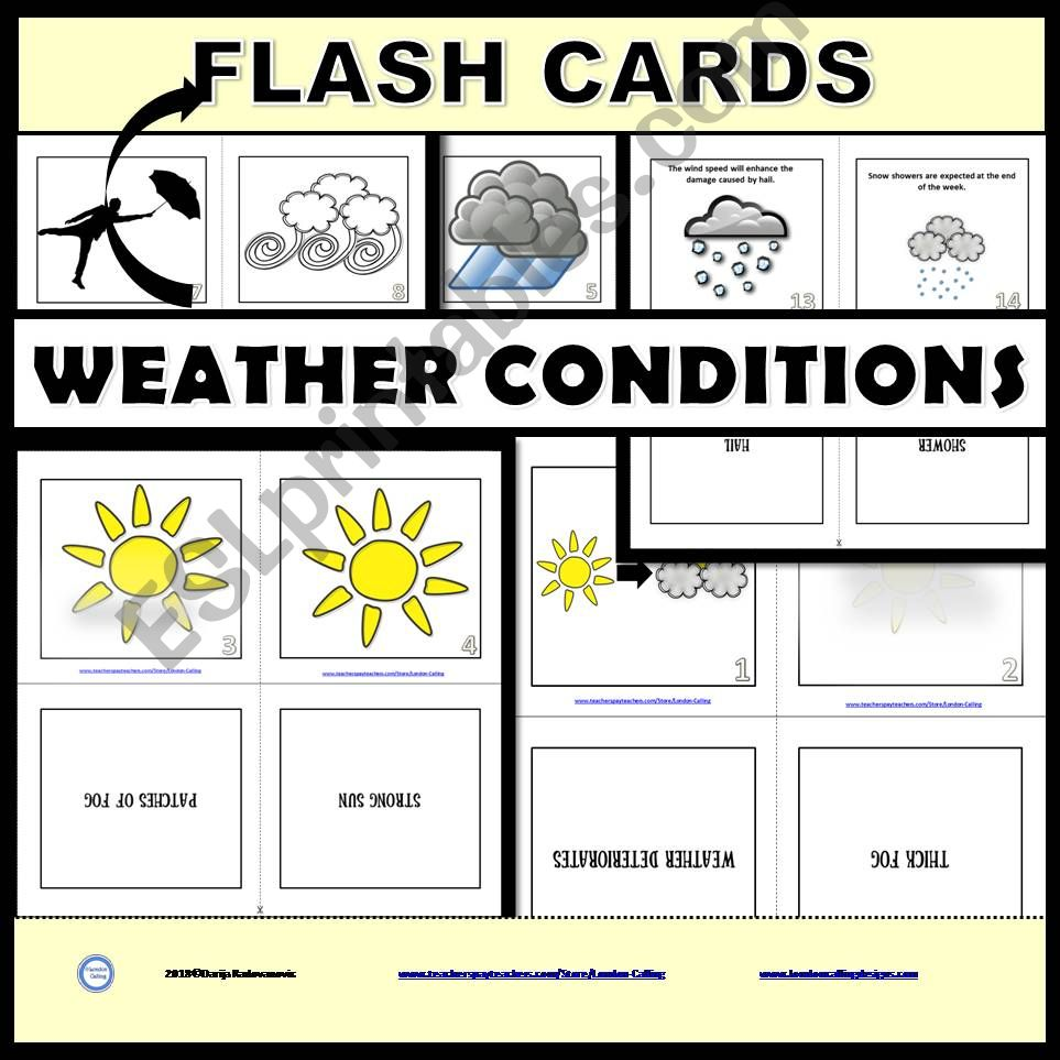 Weather Conditions  - Task Cards