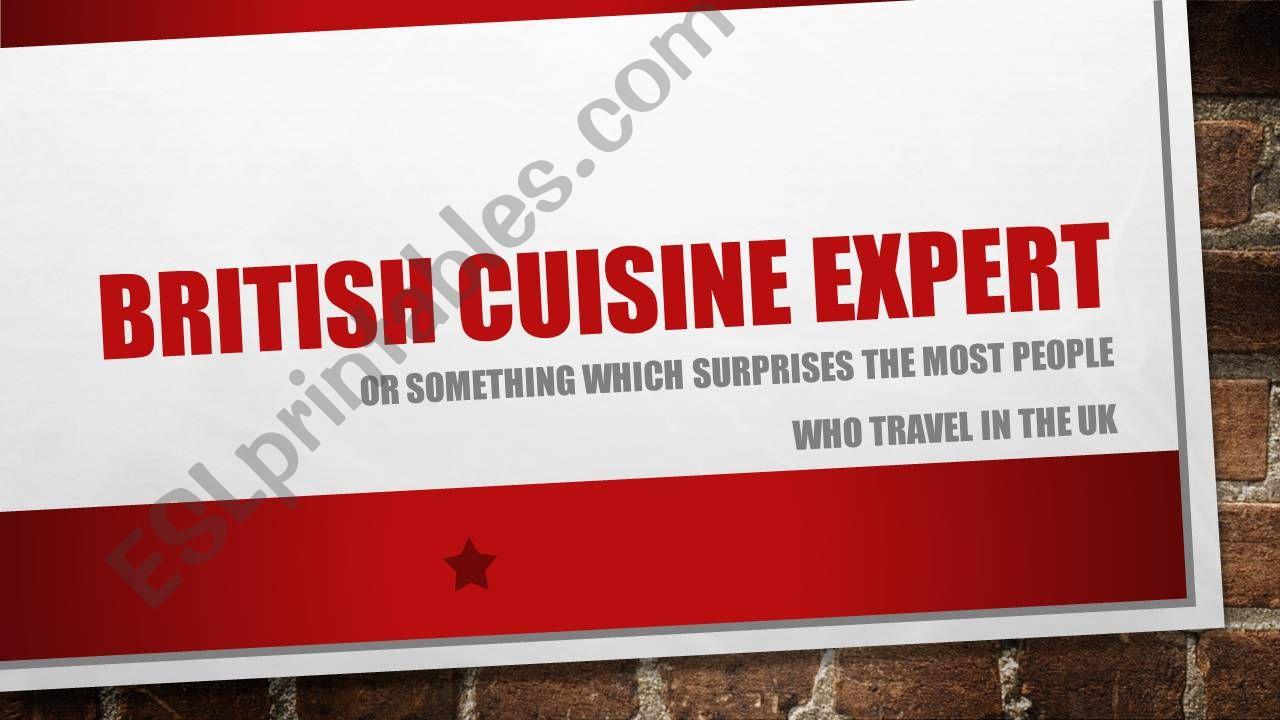 British Food quiz powerpoint
