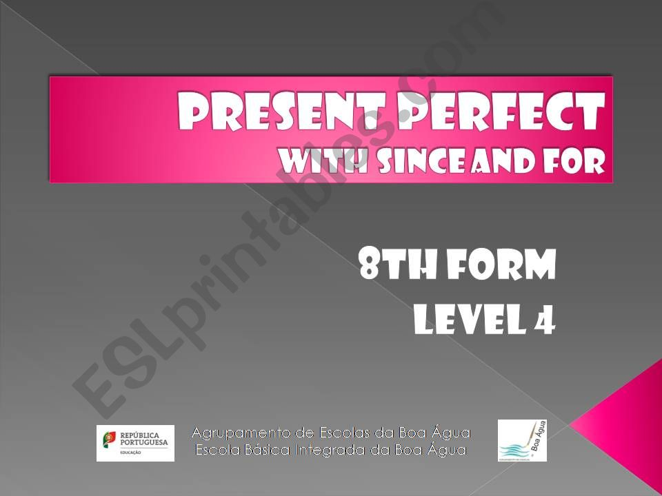 Present Perfect-since and for powerpoint