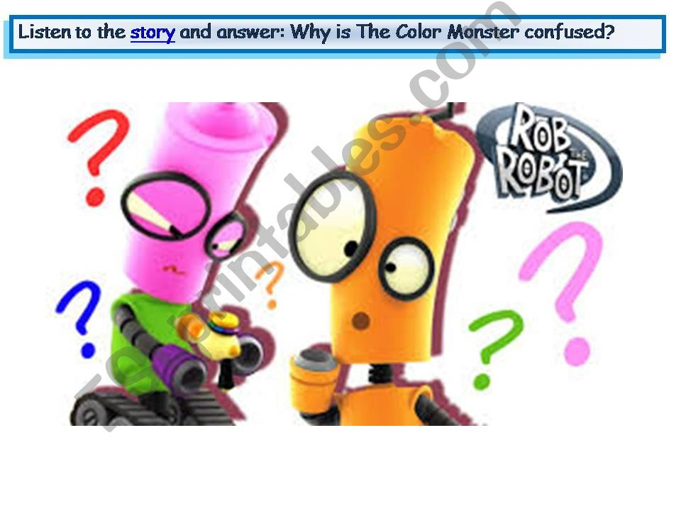 Esl English Powerpoints Story The Color Monster