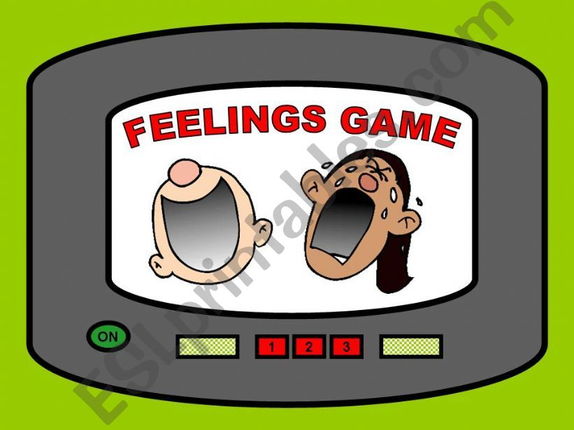 esl english powerpoints feelings game
