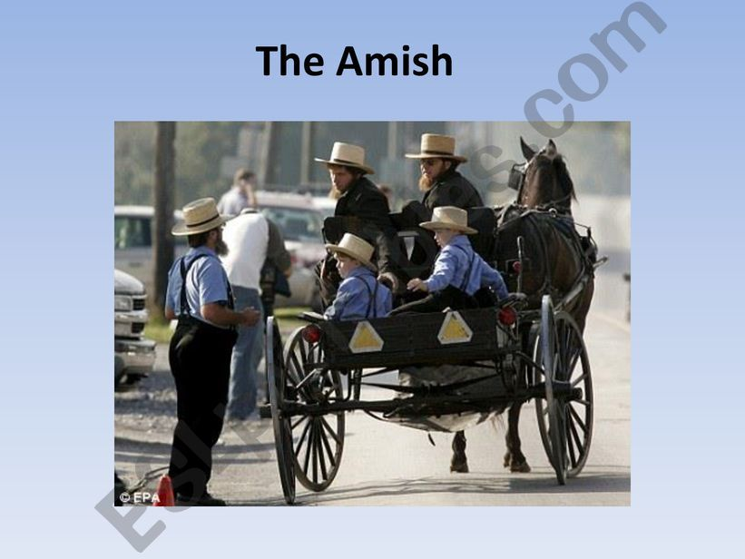 The Amish powerpoint