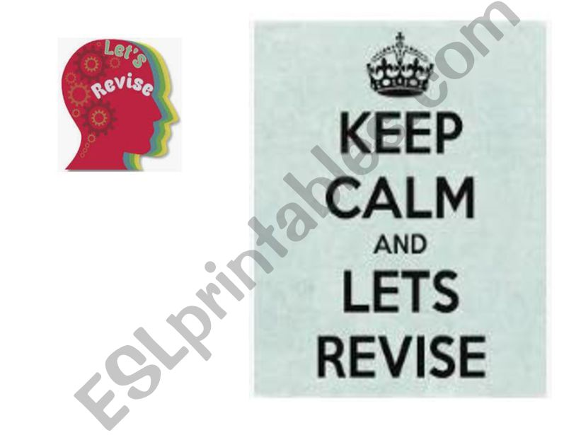 Keep Calm and Let´s Revise powerpoint