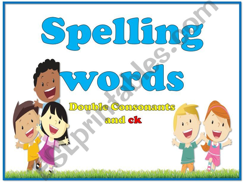 Words with double consonant powerpoint