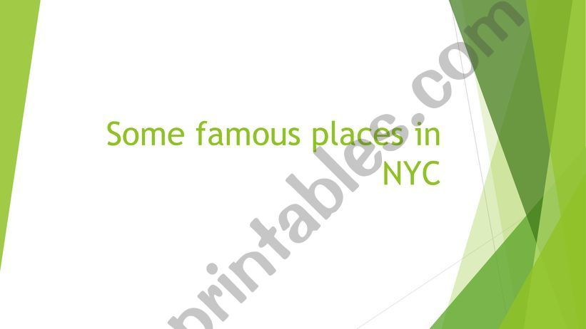 NEW YORK CITY powerpoint