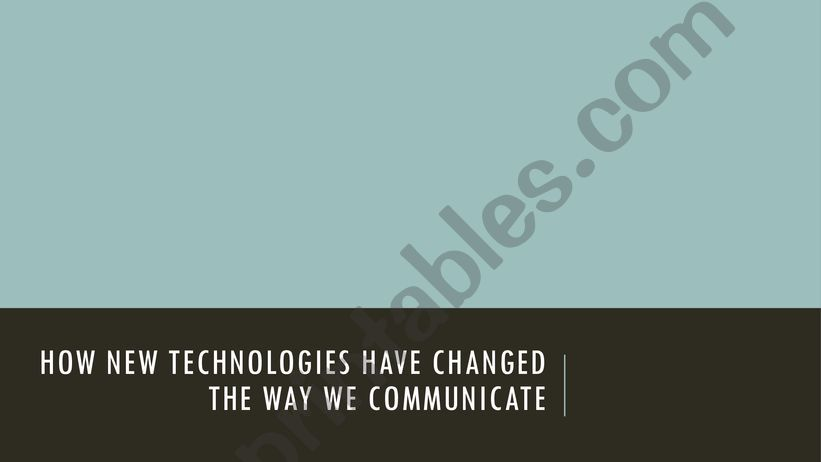 Social Media and the way we communicate