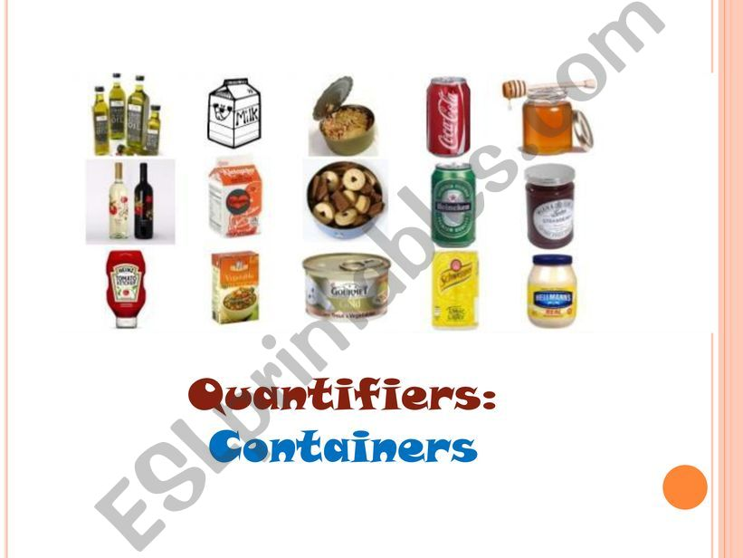 Quantifiers-containers powerpoint