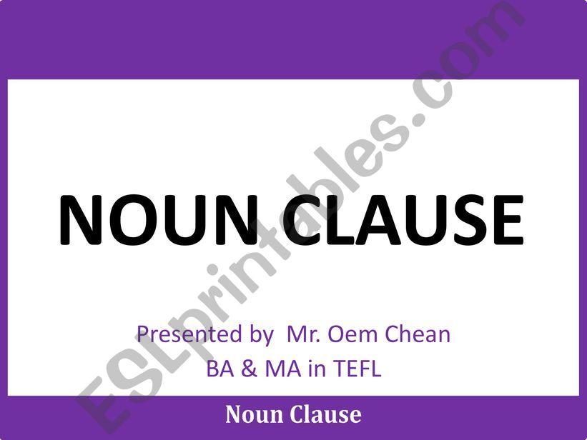 Noun Clause powerpoint