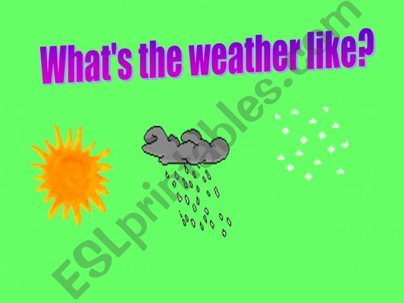 WHAT´S THE WEATHER LIKE? powerpoint