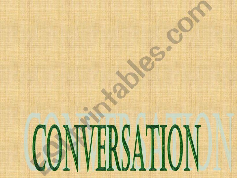 CONVERSATION powerpoint