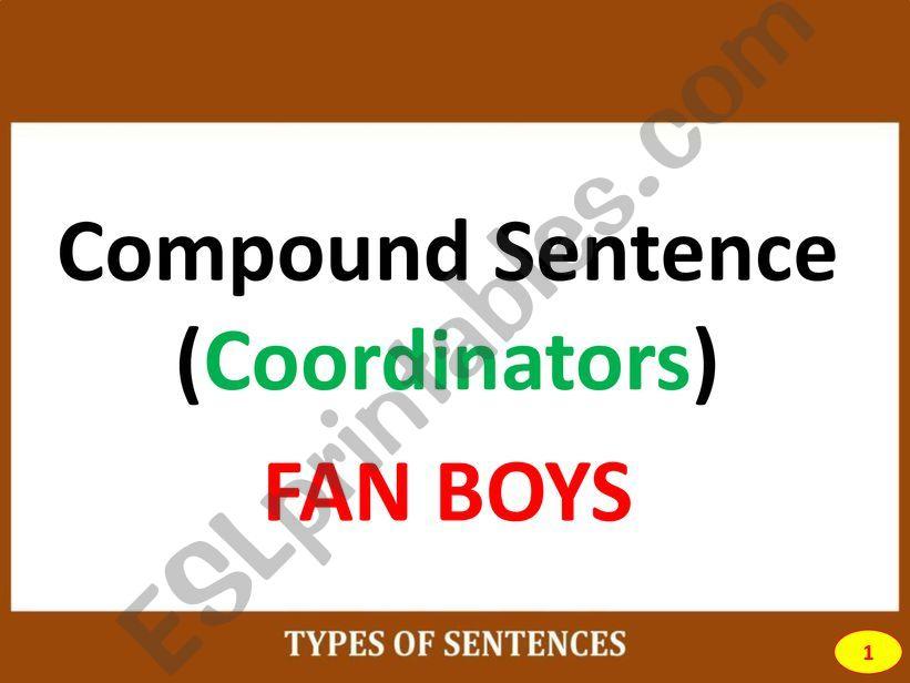 PART II: COMPOUND SENTENCE powerpoint
