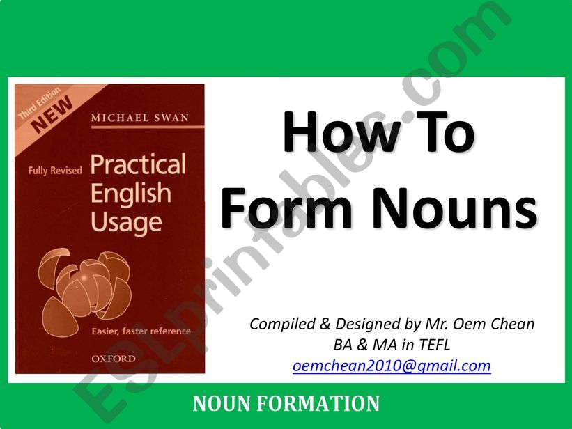 How nouns are formed powerpoint