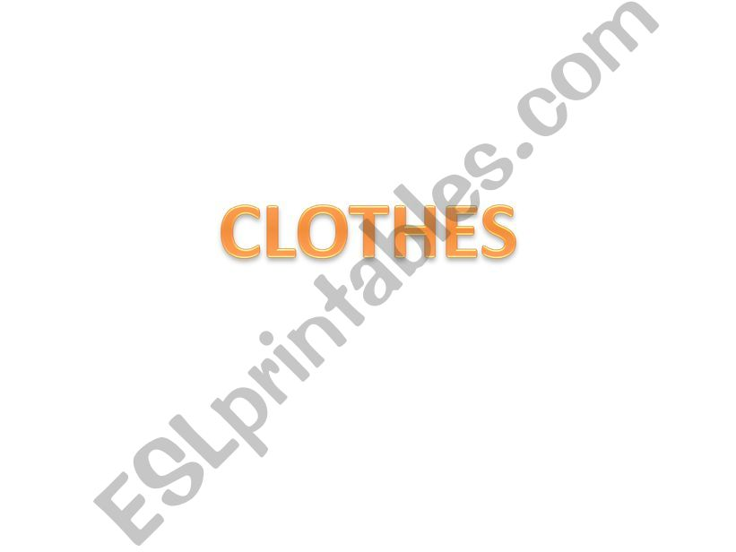 Clothes for kids powerpoint