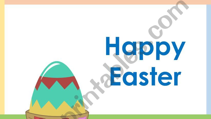 Easter Vocabulary powerpoint