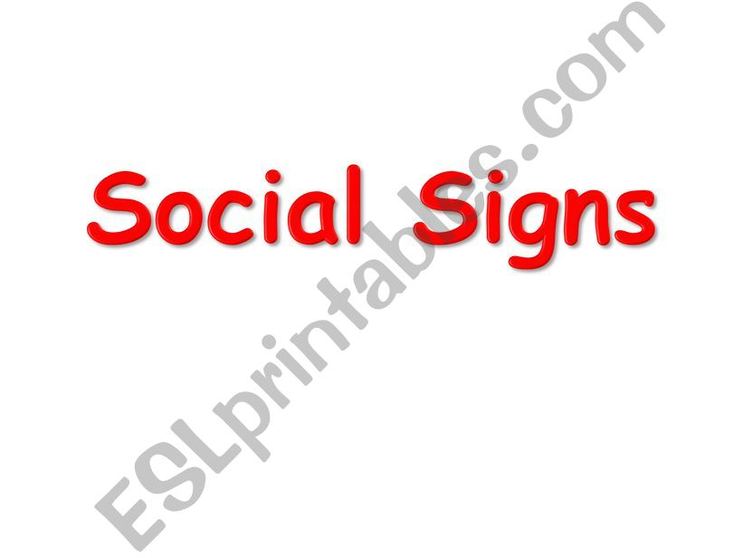 social signs powerpoint