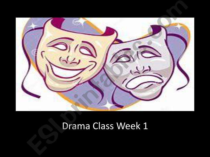 Drama Class Intro powerpoint