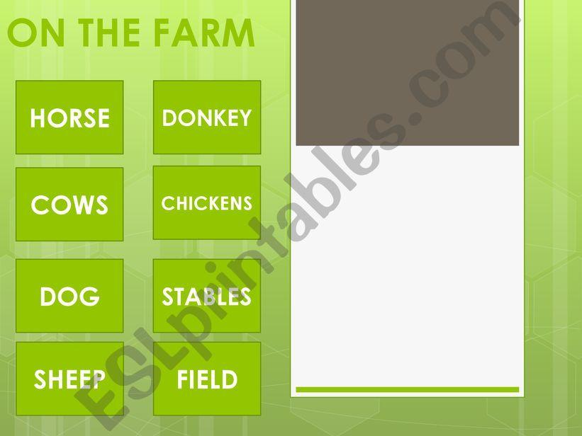 ON THE FARM-FARM ANIMALS powerpoint