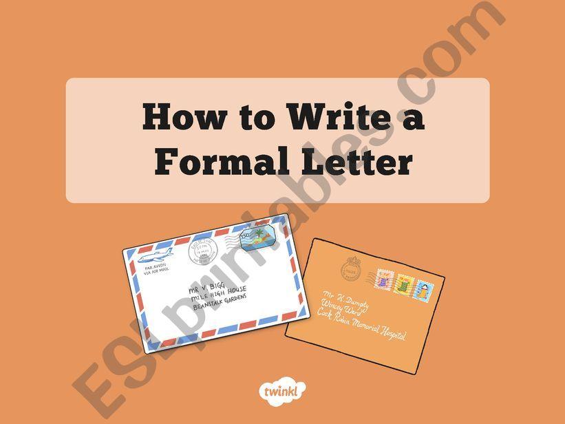 informal letters powerpoint