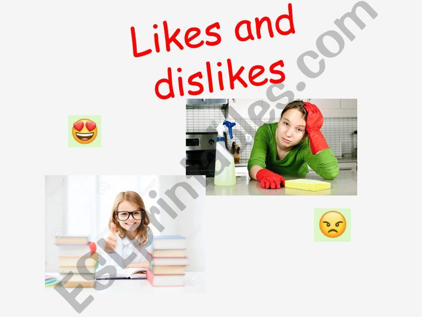 Likes and Dislikes powerpoint