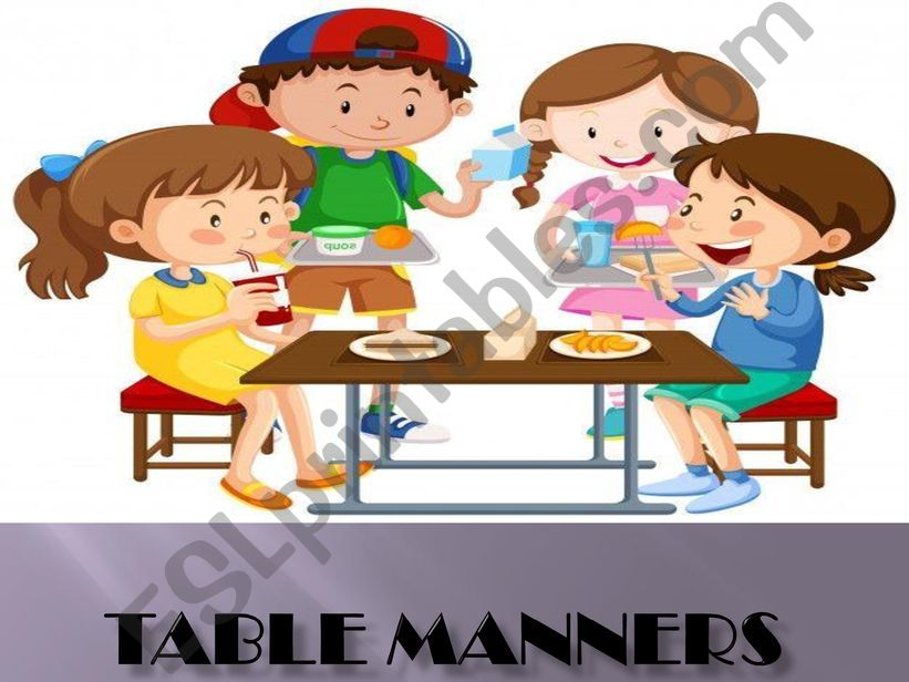 Table manners powerpoint