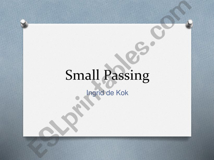 Small Passing Poem powerpoint