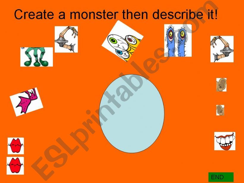 Create a monster -game powerpoint