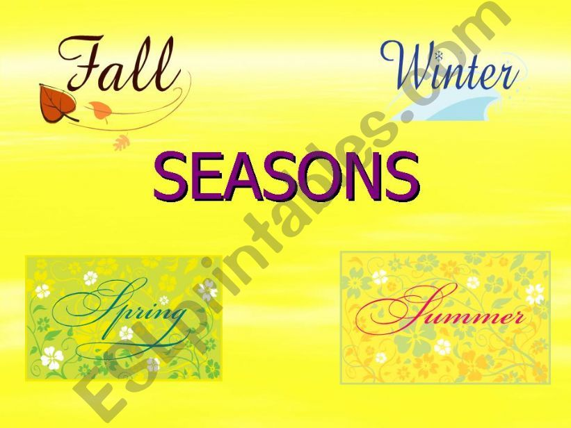 SEASONS AND MONTHS powerpoint