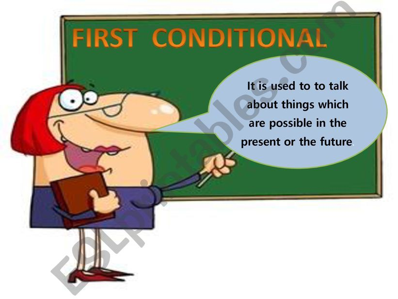 FIRST CONDITIONAÑ powerpoint