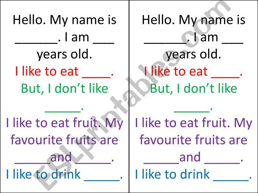 Food like speech powerpoint
