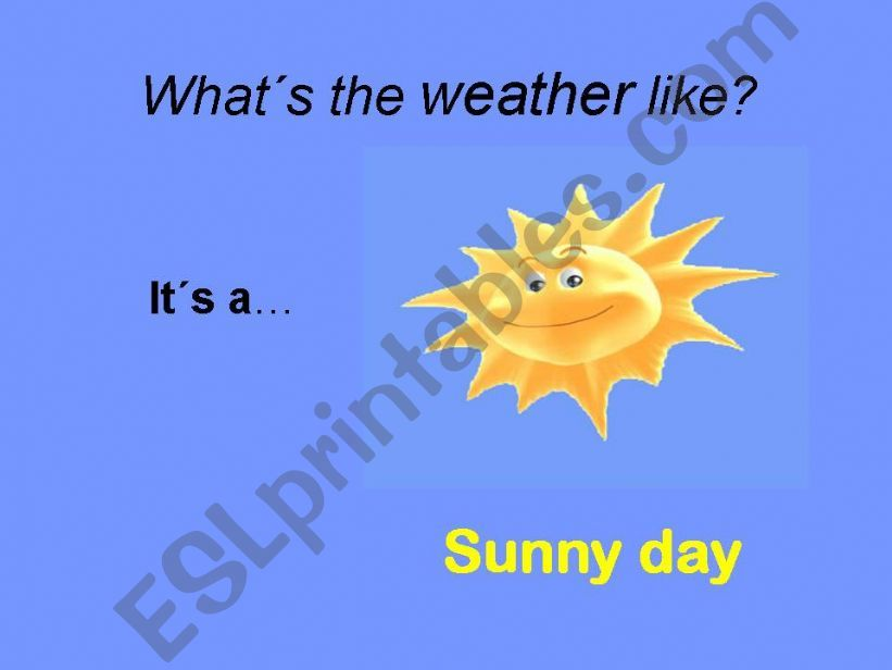 4 weather conditions powerpoint