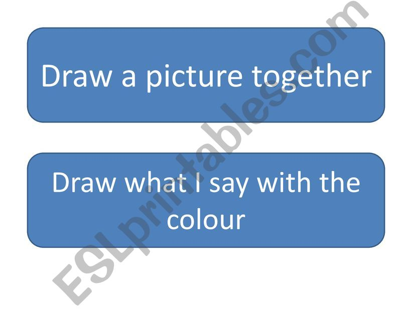 Draw what I say powerpoint