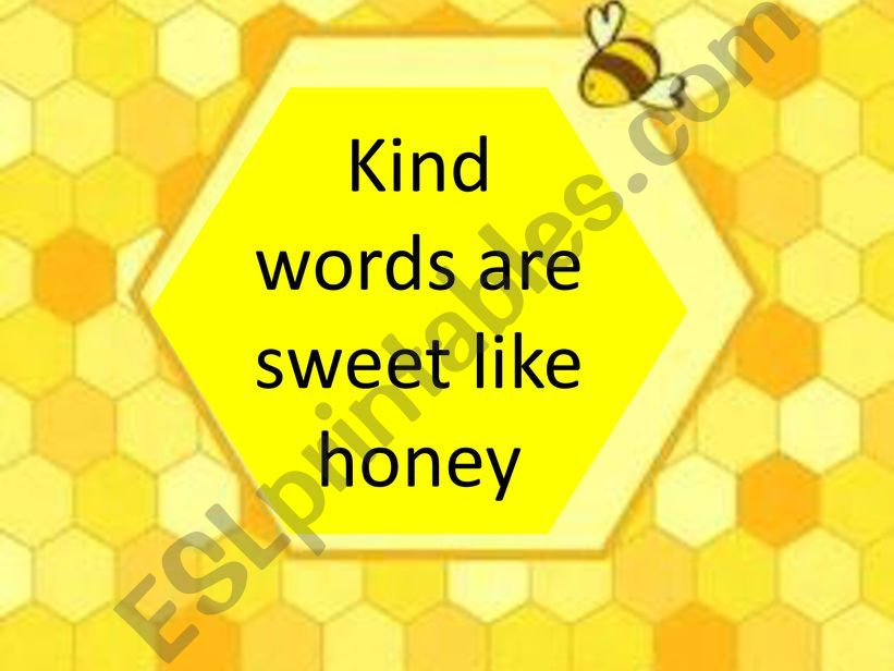 Kind words powerpoint