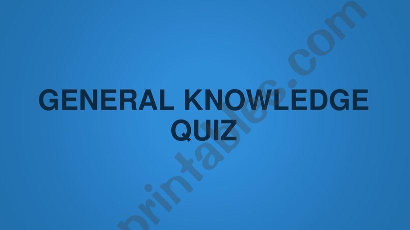 General knowledge quiz questions part 1