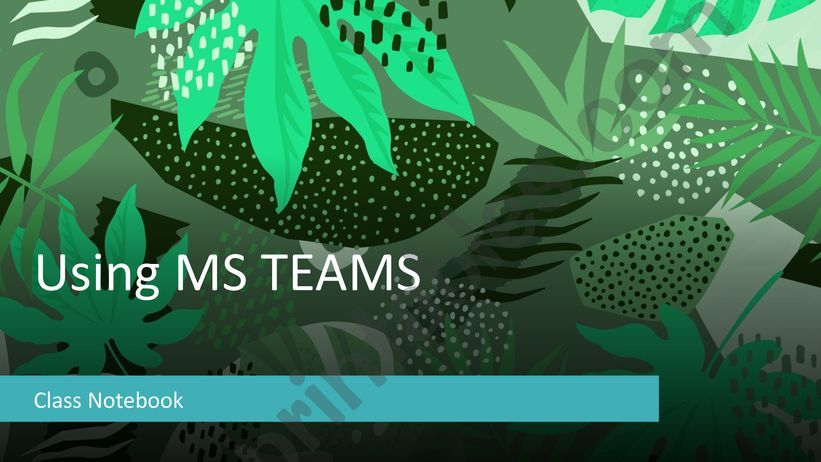 Using OneNote in Teams powerpoint