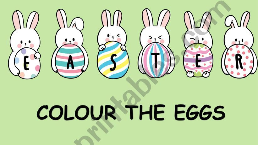 Colour the Easter eggs powerpoint