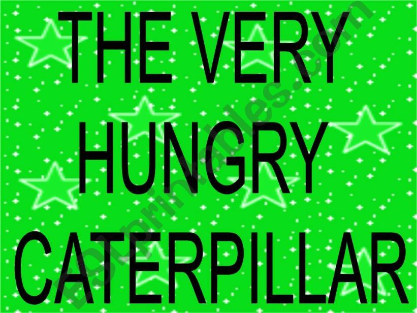 the very hungry caterpillar story