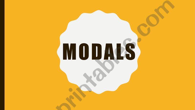 MODALS powerpoint
