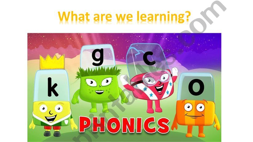 the first lesson of phonics powerpoint