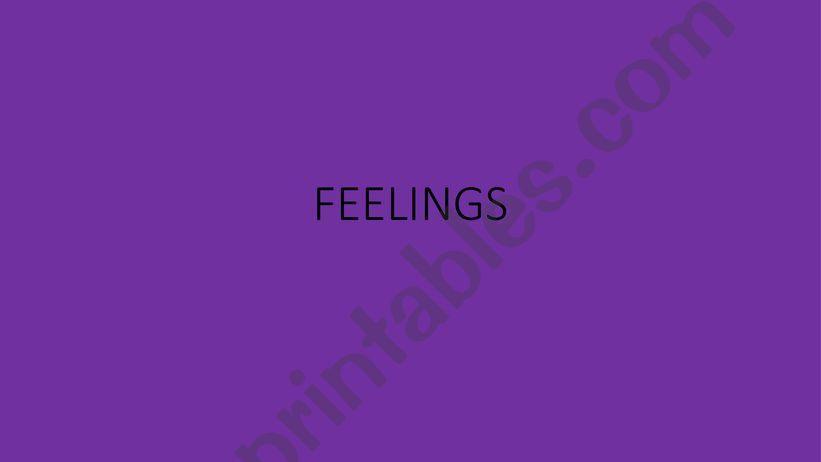 THE FEELINGS powerpoint