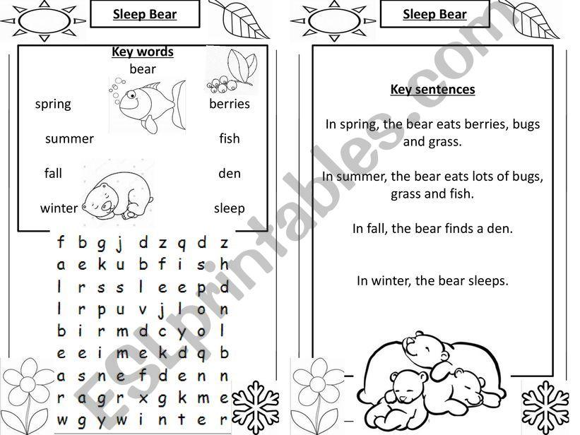 Sleep Bear wordsearch powerpoint