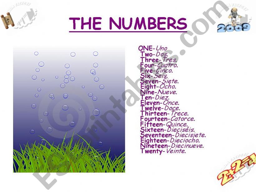The Numbers powerpoint