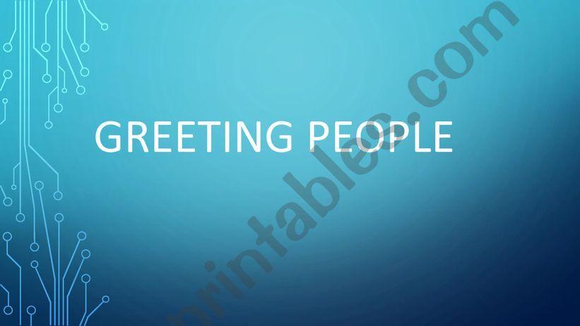 greeting people  powerpoint