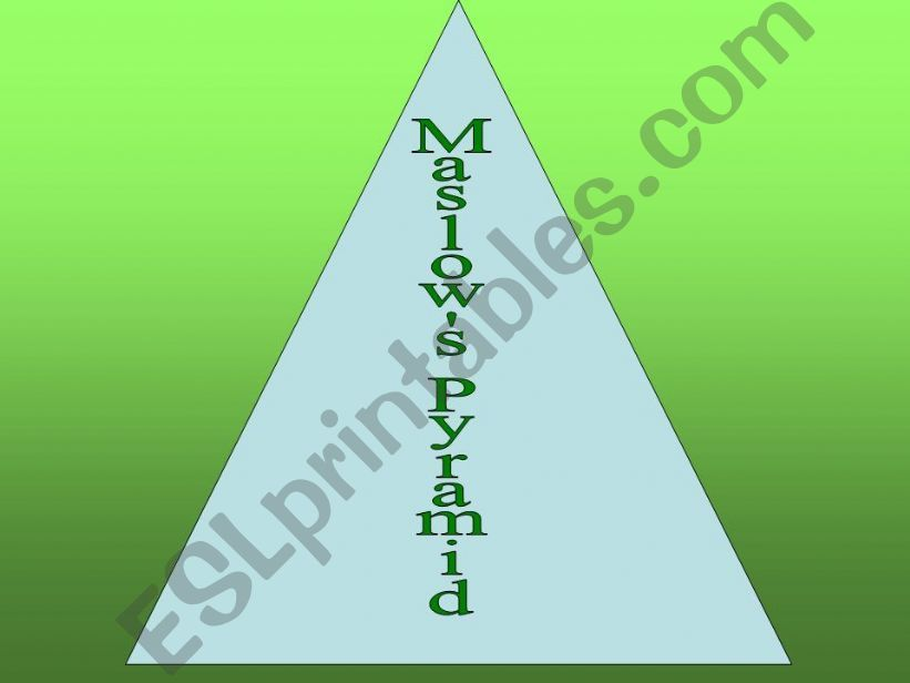 Maslow´s Pyramid powerpoint