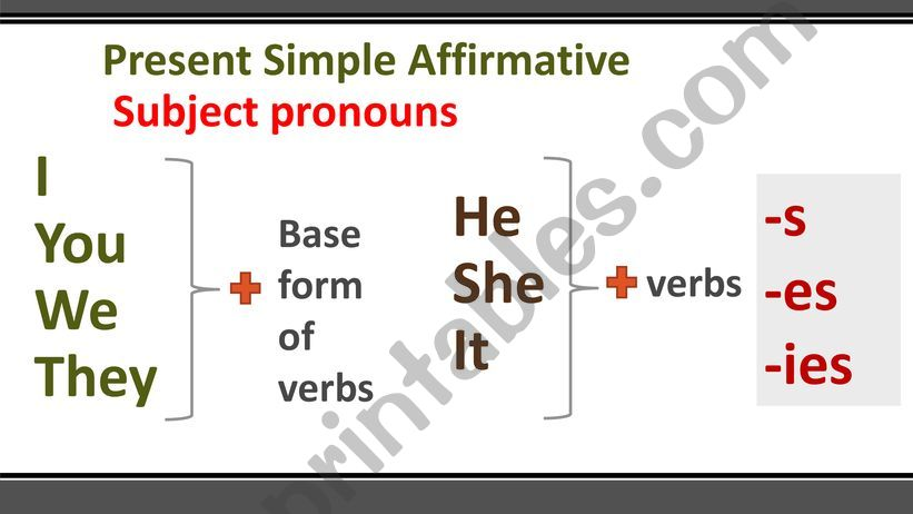 Present Simple affirmative powerpoint