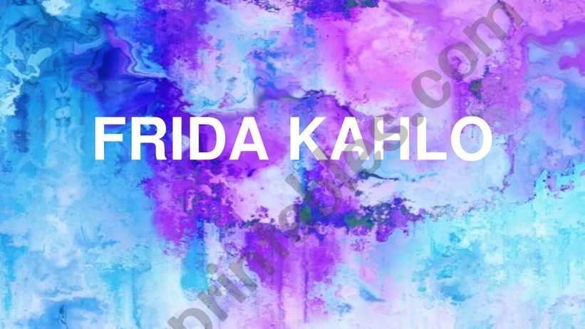Frida Kahlo biography 1 powerpoint