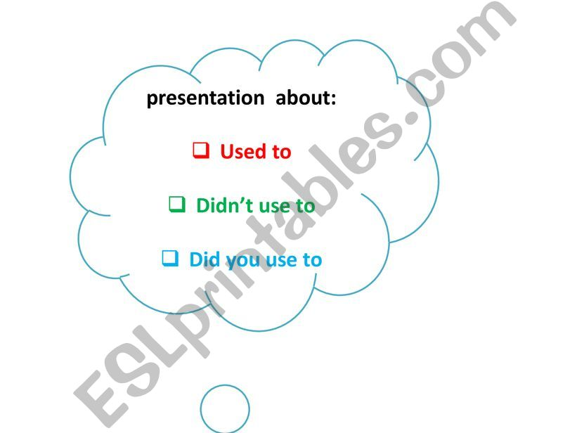 Used to  powerpoint