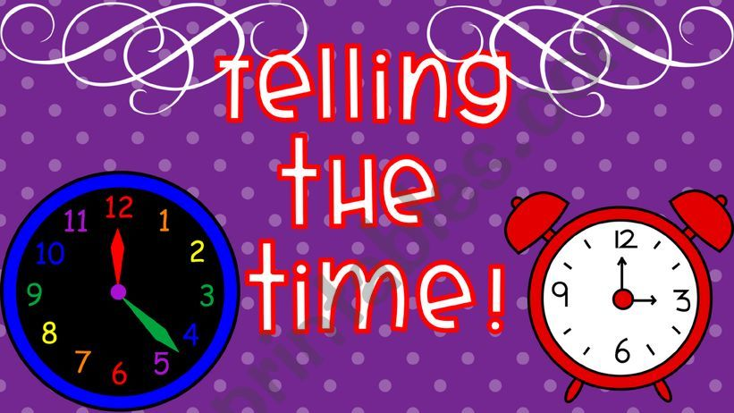 ★★★ TELLING THE TIME ★★★