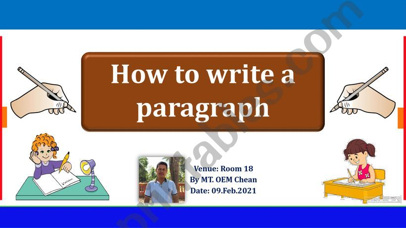 How to write a paragraph effectively.